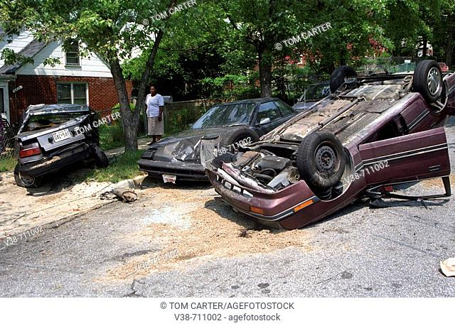 Auto accident in Landover Hills, Maryland, USA