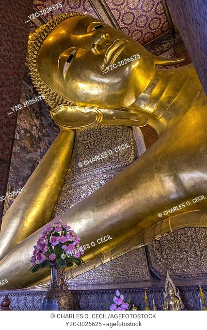 Bangkok, Thailand. Reclining Buddha, Wat Pho Temple Complex