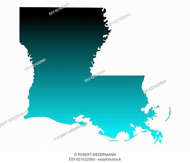 Karte von Louisiana