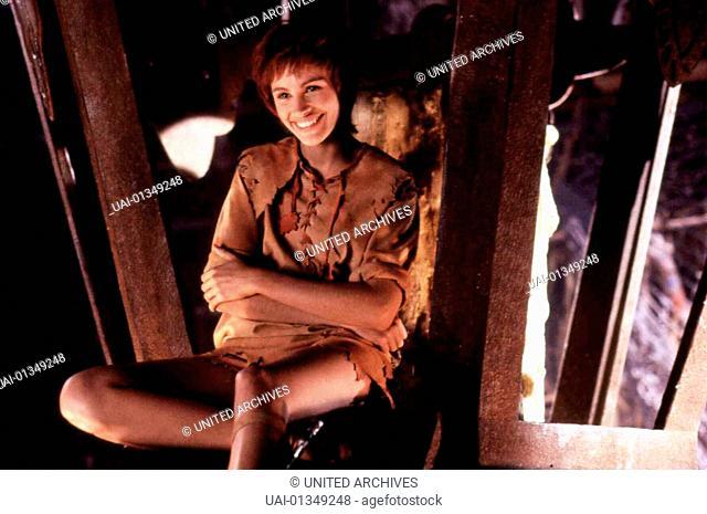 Hook, 1990er, 1990s, Fantasy, Film, Hook, Hook, 1990er, 1990s, Fantasy, Film, Hook, Julia Roberts  Mit einem Zauber hilft Tinkerbell (Julia Roberts) Peter aus...
