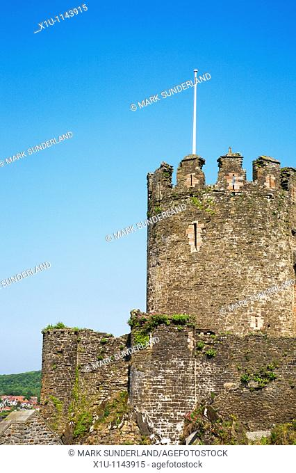 Towers of Conway Castle Conway Wales