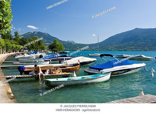 France, Haute Savoie, Veyrier du Lac, Annecy lake, the marina