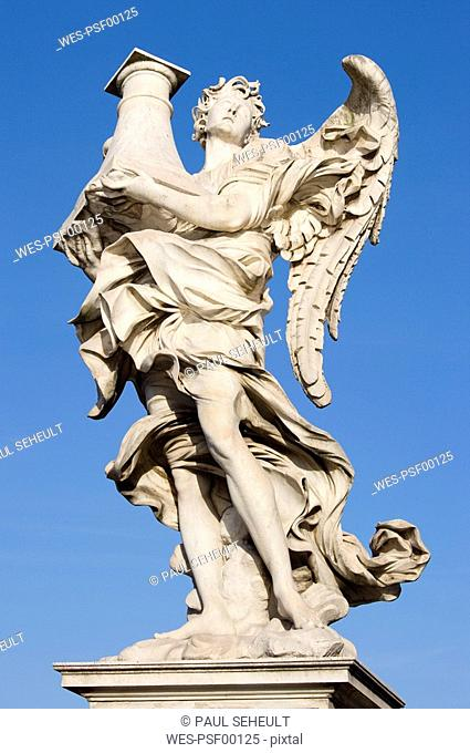 Italy, Rome, Ponte Sant'Angelo, Angel with the Column