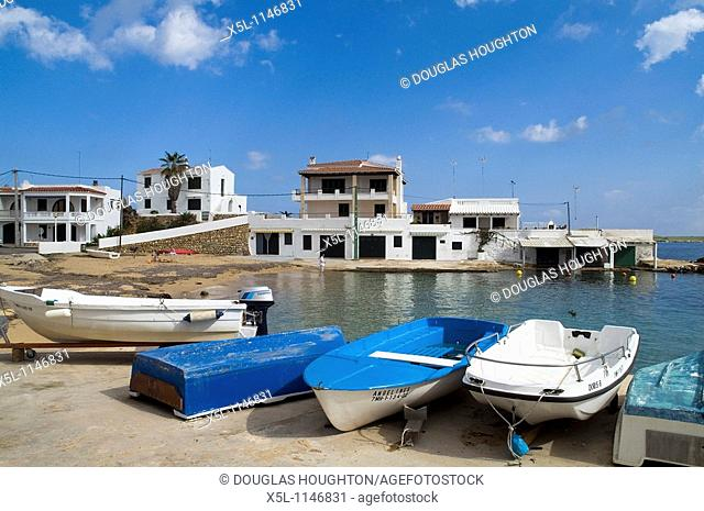 NA MACARET MENORCA Fishing village with beached boats and waterfront houses