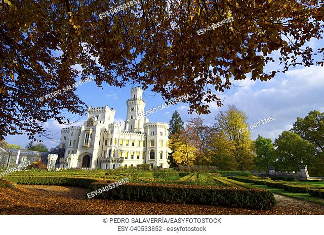 castle neogothic Hluboka nad Vltavou. Built in the thirteenth century and has undergone several renovations until now look like it is one of the most visited...