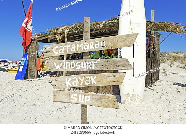 Post sign, Formentera, Balearic Islands, Spain