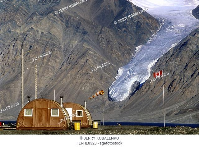 Park headquarters, Tanquary Fiord, Quttinirpaaq National Park, Ellesmere Island, Nunavut