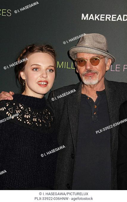 """Odessa Young, Billy Bob Thornton 12/04/2019 The Los Angeles Special Screening of """"""""A Million Little Pieces"""""""" held at The London West Hollywood at Beverly Hills..."""