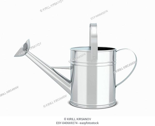 Watering can. 3d illustration isolated on white background