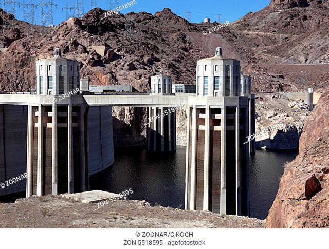 Der nach J.Edgar Hoover benannte Damm in der Wüste Nevada/Arizona, USA 2013