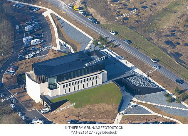 France, Meuse (55), Fleury devant Douaumont, Memorial of Verdun (aerial view)