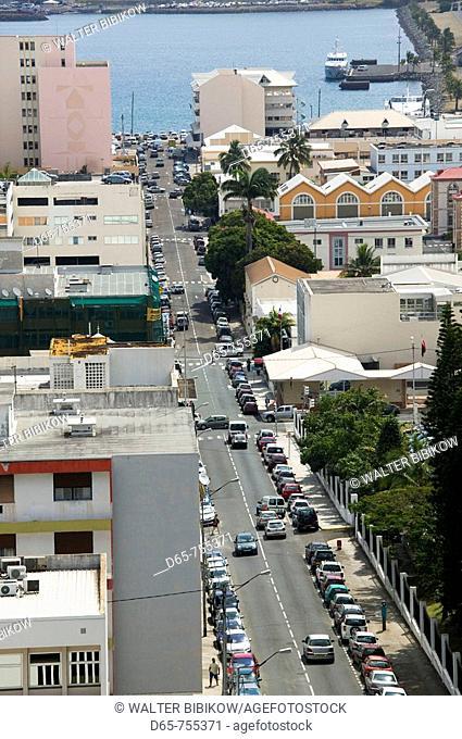 New Caledonia - Grande Terre Island - Noumea: city view from Route du Semaphore