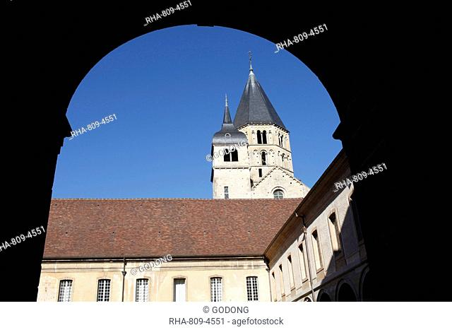 Cluny abbey, Saone-et-Loire, Burgundy, France, Europe
