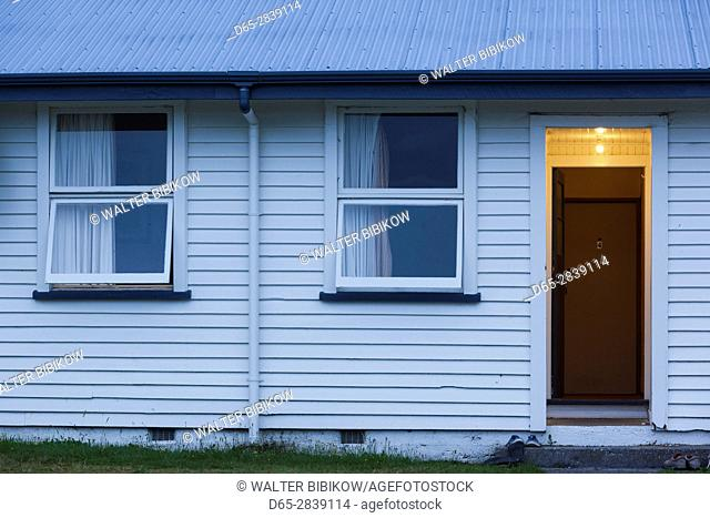New Zealand, South Island, West Coast, Franz Josef, Franz Josef Glacier, motel doorway