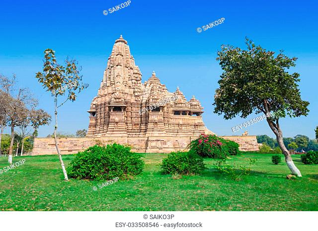 The Khajuraho Group of Monuments are a group of Hindu and Jain temples in Madhya Pradesh, India