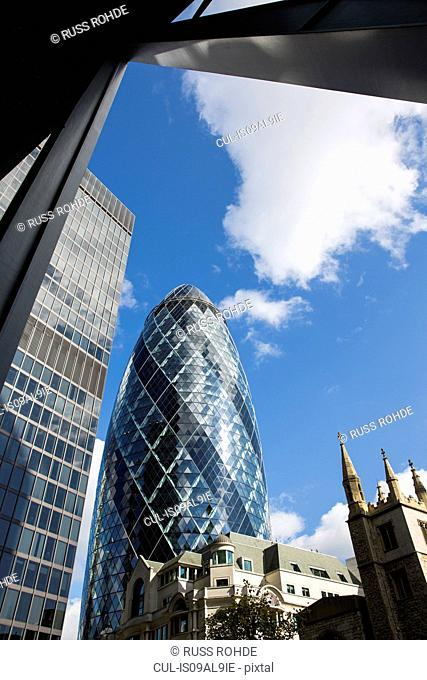 Canary Wharf, Gherkin, St Andrew Undershaft, London, England