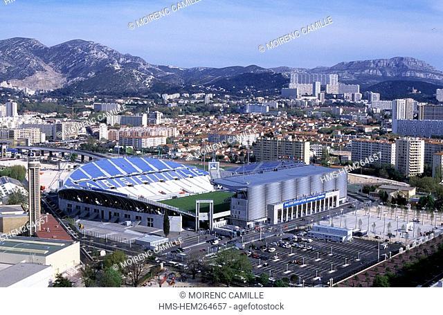 France, Bouches du Rhone, Marseille, cycle stadium