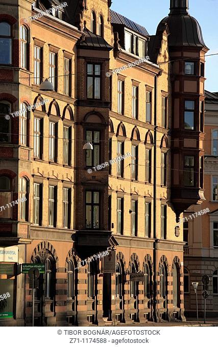 Sweden, Malmö, Malmo, historic architecture, street scene