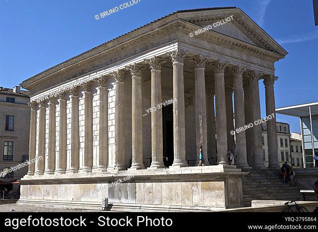 The Maison Carrée, Nîmes, Gard, France