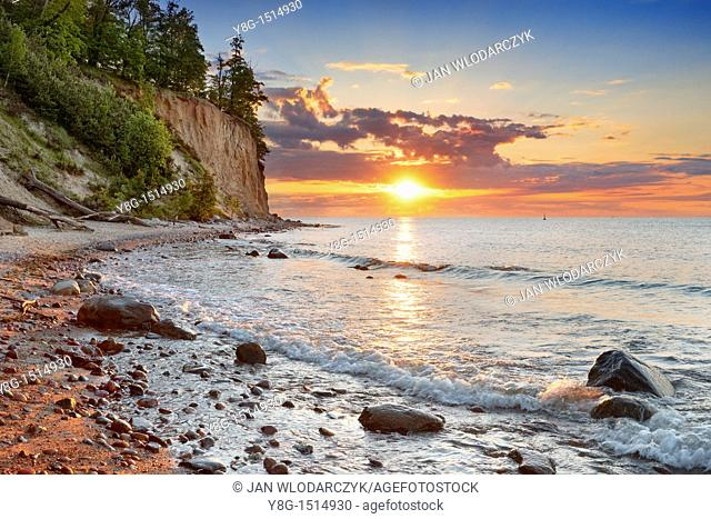 Sunrise at Baltic sea, Gdynia-Orlowo, Poland, Europe