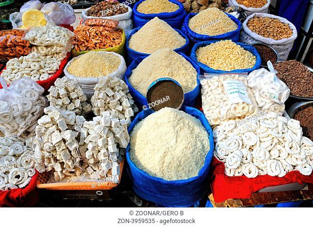 offener Verkauf im Markt von Lhasa Tibet, open market sale in Lhasa Tibet