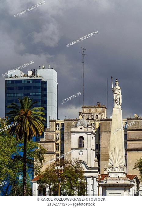 Argentina, Buenos Aires Province, City of Buenos Aires, Monserrat, View of the Plaza de Mayo