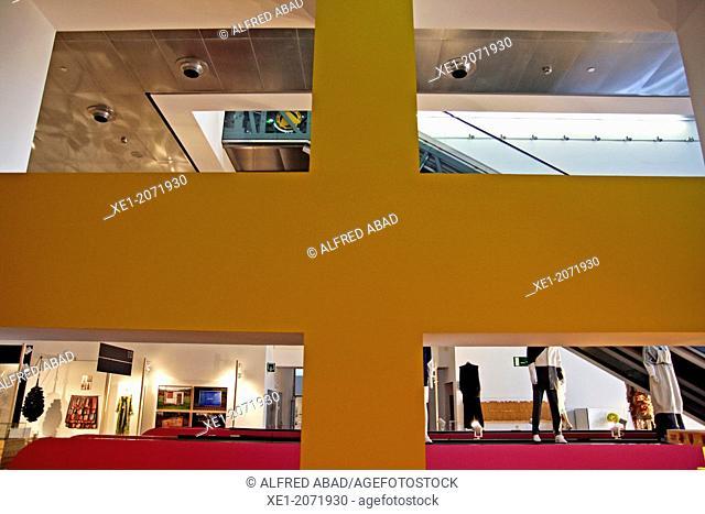 Design Hub building, Design Museum, 2013, arch. Martorell, Bohigas and Mackay, Barcelona, Catalonia, Spain