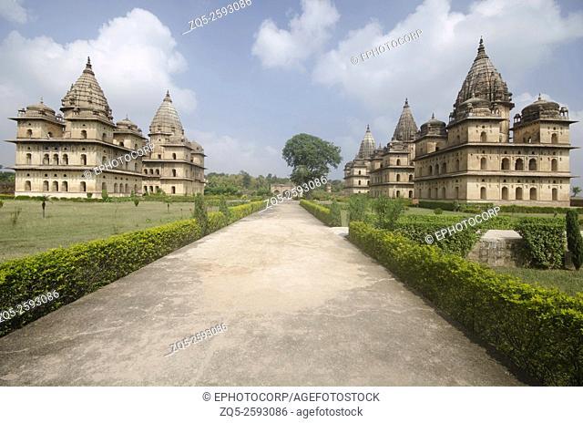 Exterior view of chhatri at Orchha. Orchha. Madhya Pradesh. India