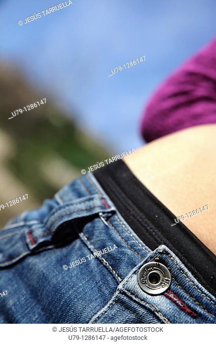 Detail of woman's waist