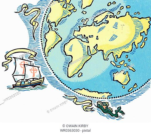 Sailing Around World