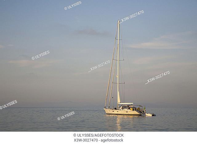 Sailing boats, Marciana Marina area , Elba island, Tuscany, Italy, Europe