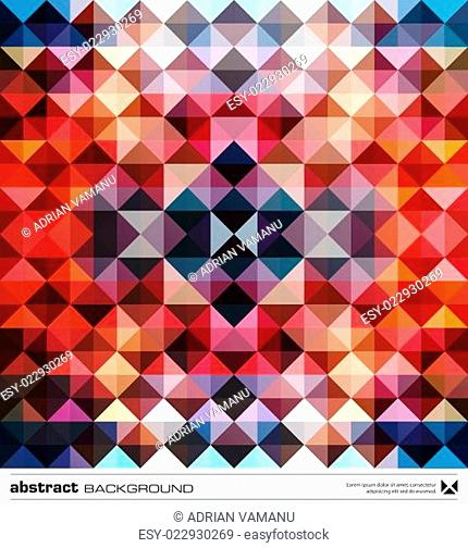 Abstract colorful triangles background. Vector