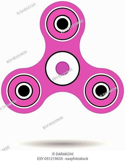 Fidget spinner toy vector illustration, bright spinner isolated over white background