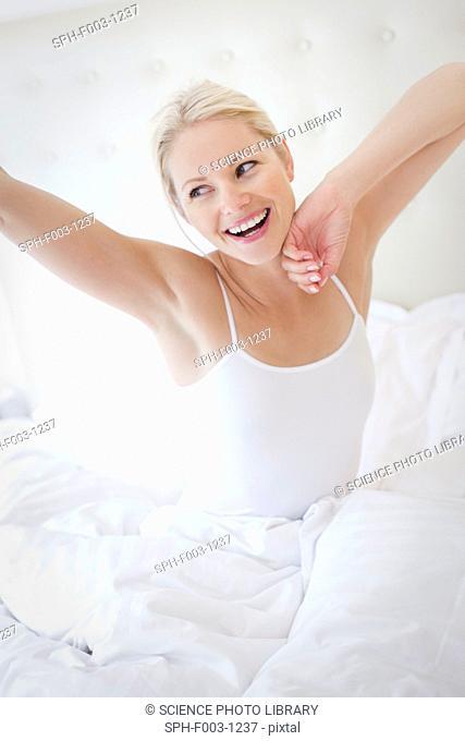 Woman waking