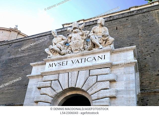 Vatican Museum Entrance Rome Italy IT EU Europe