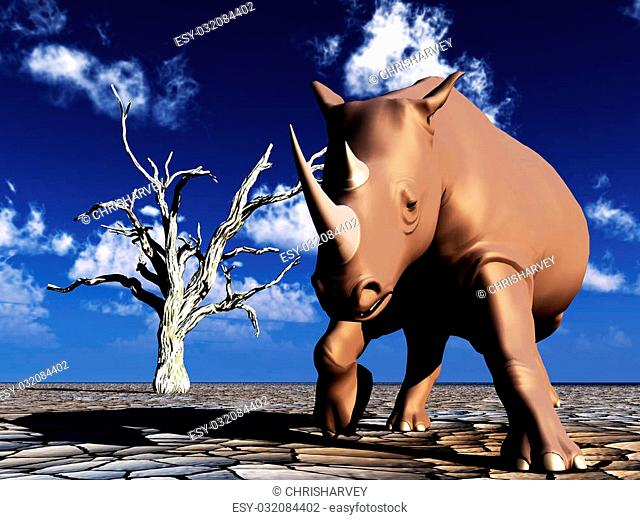 Branch head rhinoceros Stock Photos and Images | age fotostock