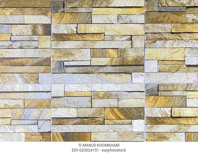 Sandstone tile wall