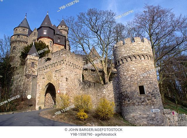 Entrance to historic Braunfels Castle, Braunfels, Germany