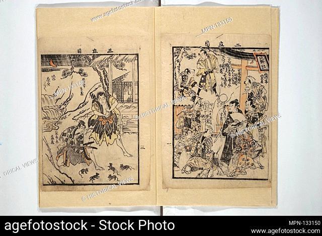 Picture Book with Synopses of Plays (Ehon banzuke) for Performances at the Nakamura Theater in 1794. Artist: Unidentified Artist Japanese