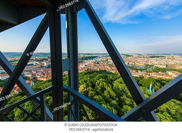 View from Petrin Hill tower lookout, Prague, Czech Republic