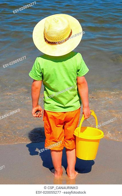 Boy at the seaside