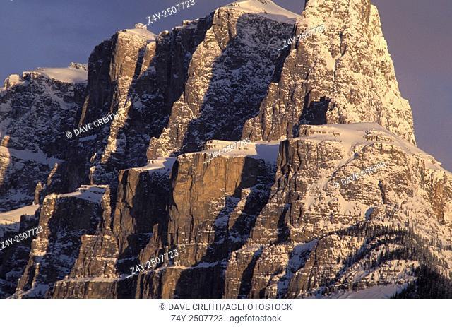 Eisenhower Tower, Castle Mountain, Banff National Park, Alberta, Canada
