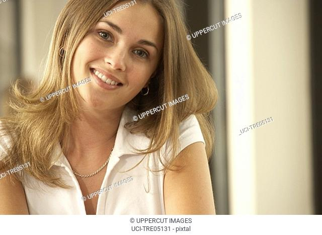 Woman's smiling face