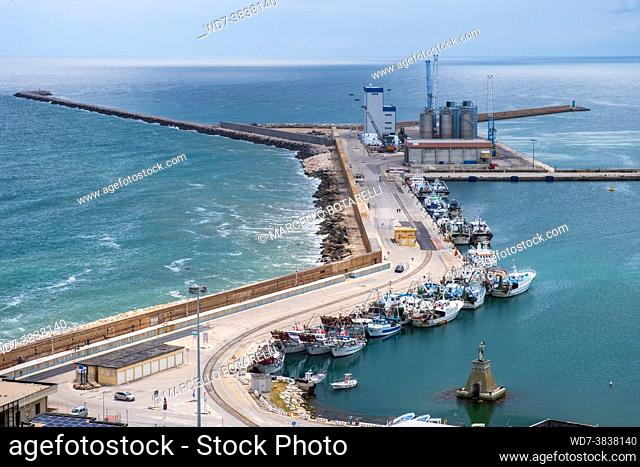 view of the port of ortona, abruzzo, italy
