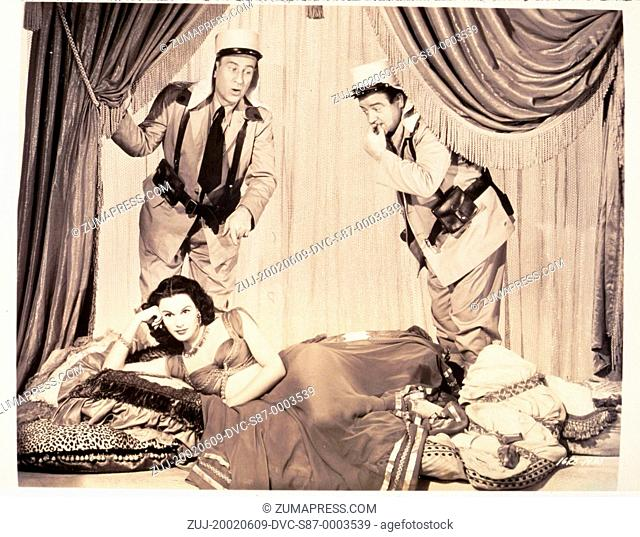 1950, Film Title: ABBOTT AND COSTELLO IN THE FOREIGN LEGION, Director: CHARLES LAMONT, Studio: UNIV, Pictured: BUD ABBOTT, CLOTHING, COMEDY (SLAPSTICK)