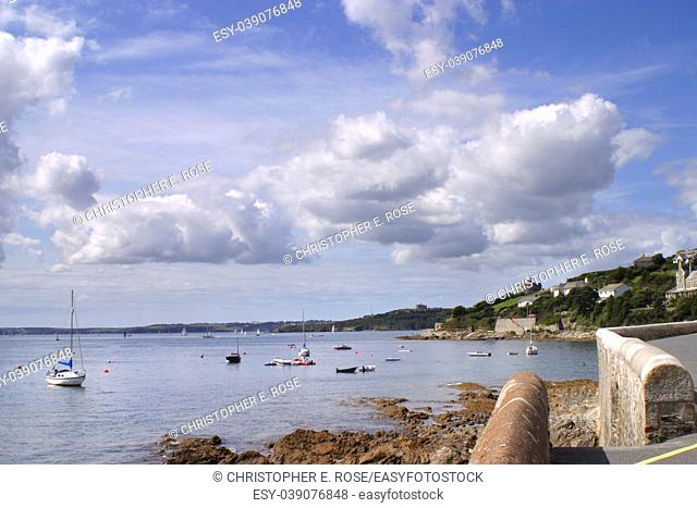 Summer sunshine on the picturesque coastal destination of St Mawes, Cornwall, UK