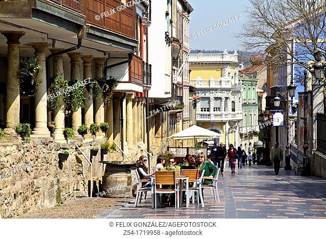 Aviles, Asturias, Spain, Galiana Street
