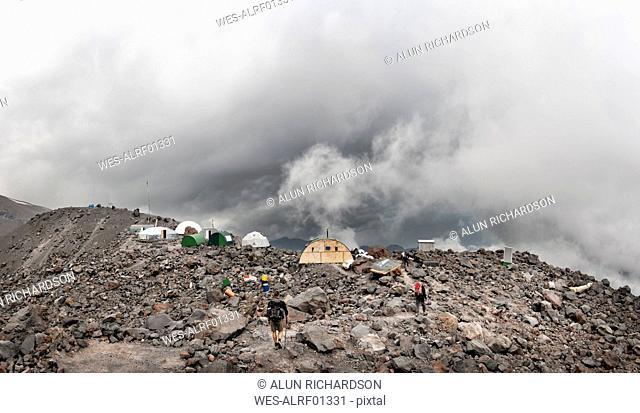 Russia, Upper Baksan Valley, Caucasus, Mount Elbrus North Camp