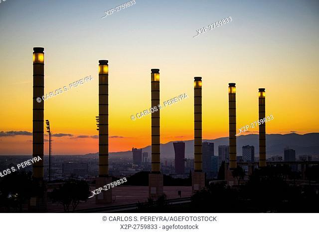 Olympic Park of Montjuic in Barcelona Catalonia Spain