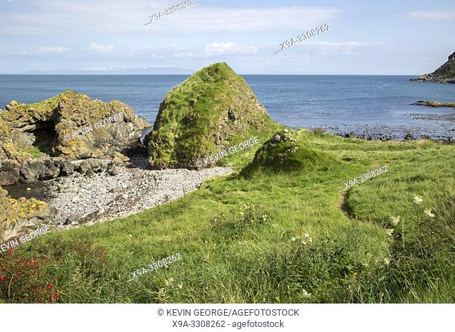 Slavers Bay, Murlough; Beach; County; Antrim; Northern; Ireland